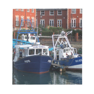 Fishing boats, Portsmouth, England Notepad