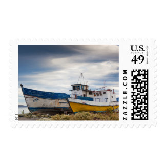 Fishing boats postage stamps