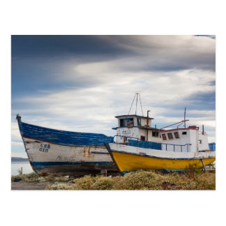 Fishing boats postcard