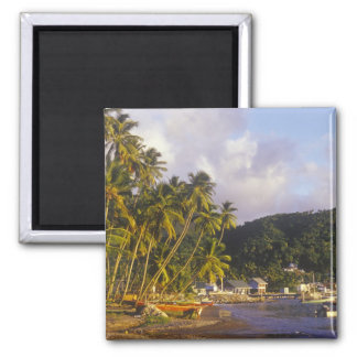 Fishing boats, Soufriere, St Lucia, Caribbean 2 Inch Square Magnet