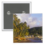 Fishing boats, Soufriere, St Lucia, Caribbean Button