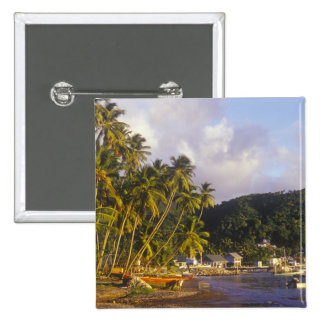 Fishing boats, Soufriere, St Lucia, Caribbean 2 Inch Square Button