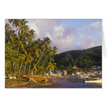 Fishing boats, Soufriere, St Lucia, Caribbean Cards
