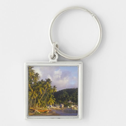 Fishing boats, Soufriere, St Lucia, Caribbean Keychain