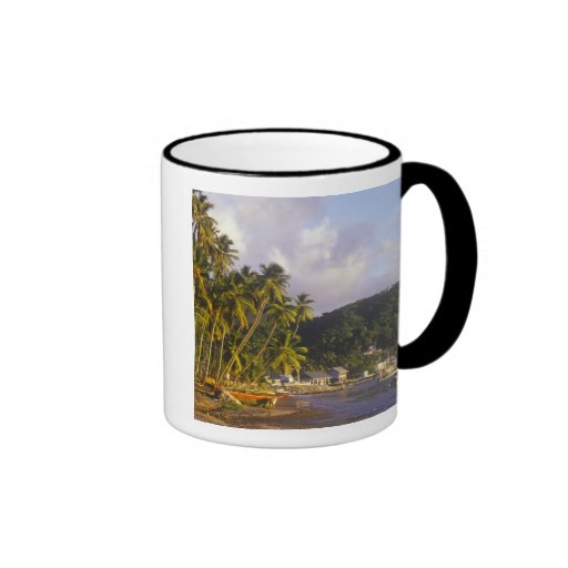 Fishing boats, Soufriere, St Lucia, Caribbean Coffee Mugs