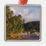 Fishing boats, Soufriere, St Lucia, Caribbean Christmas Ornaments