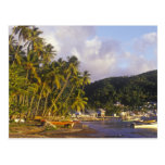 Fishing boats, Soufriere, St Lucia, Caribbean Post Card