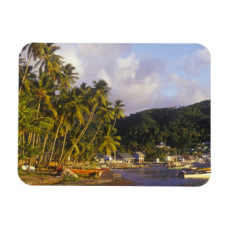 Fishing boats, Soufriere, St Lucia, Caribbean Rectangular Photo Magnet