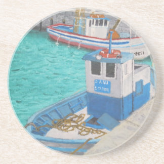 Fishing Boats-Tarifa Spain Beverage Coasters