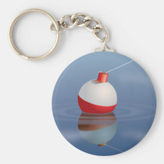 Fishing Bobber In Water Basic Round Button Keychain