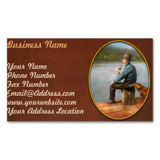 Fishing - Booze hound 1922 Business Card Magnet