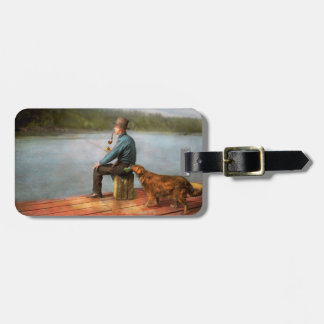 Fishing - Booze hound 1922 Tag For Luggage