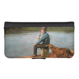 Fishing - Booze hound 1922 Wallet Phone Case For iPhone SE/5/5s
