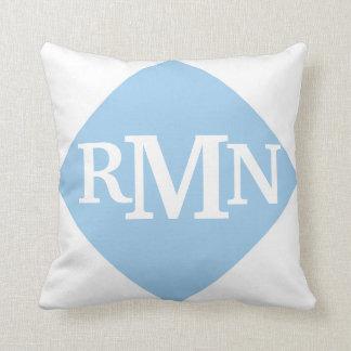 Fishing Boy with Custom Initials (Powder Blue) Pillows