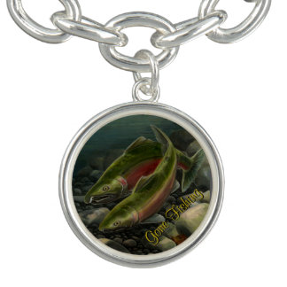 Fishing Bracelet Gone Fishing Charm Bracelet Custo