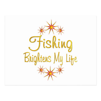 Fishing Brightens My Life Postcard