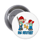 Fishing Buddies Big Brother Buttons