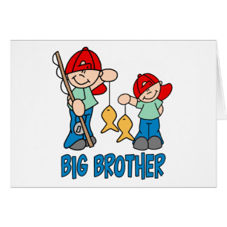 Fishing Buddies Big Brother Greeting Card