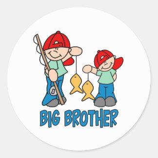 Fishing Buddies Big Brother Classic Round Sticker