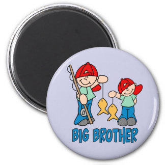 Fishing Buddies Big Brother 2 Inch Round Magnet