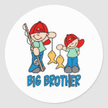 Fishing Buddies Big Brother Round Stickers