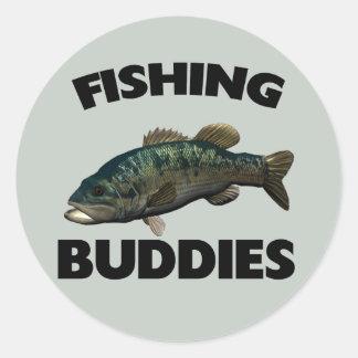 FISHING BUDDIES CLASSIC ROUND STICKER