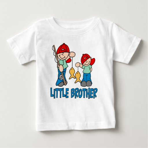 Fishing buddies little brother baby t shirt zazzle for Baby fishing shirts