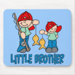 Fishing Buddies Little Brother Mousepad Mousepads