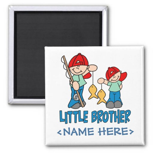 Fishing Buddies Little Brother Refrigerator Magnet