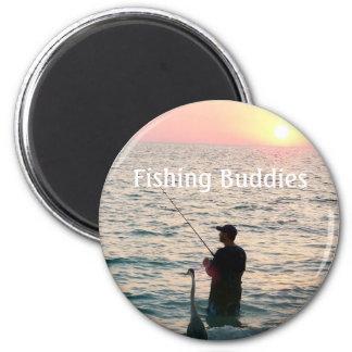 Fishing Buddies 2 Inch Round Magnet
