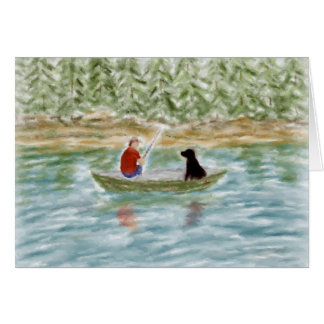 Fishing Buddies Note Card