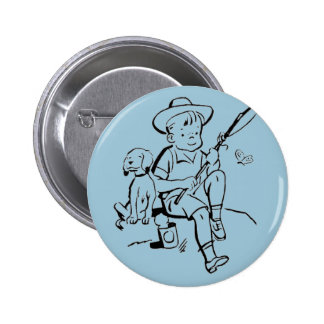 Fishing Buddies Pinback Button