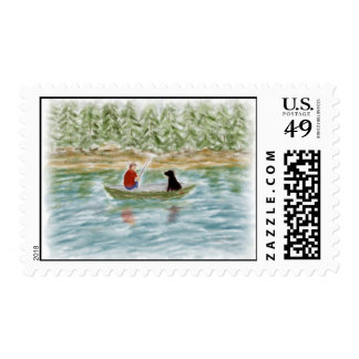 Fishing Buddies Postage