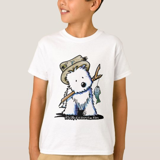 Fishing Buddy Westie Kids T-Shirt