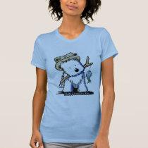 Fishing Buddy Westie Ladies Petite T-Shirt