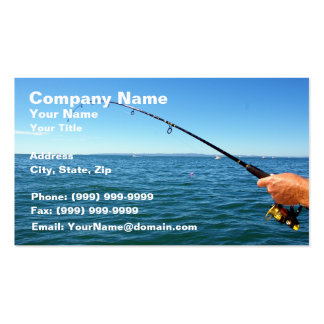 Fishing Double-Sided Standard Business Cards (Pack Of 100)
