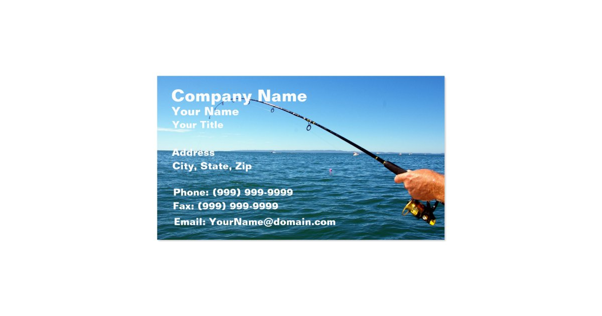 Fishing business card zazzle for Fishing business cards