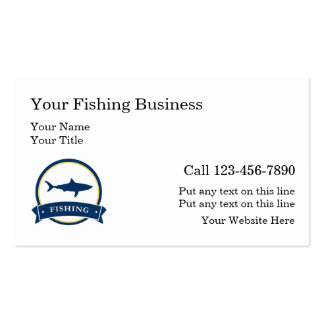 Fishing charter business cards templates zazzle for Fishing business cards