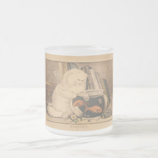 Fishing by E.B. & E.C. Kellogg Frosted Glass Coffee Mug