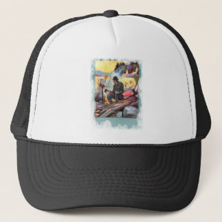 Fishing by the river trucker hat