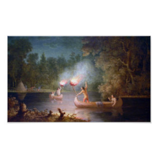 Fishing by Torchlight. Poster