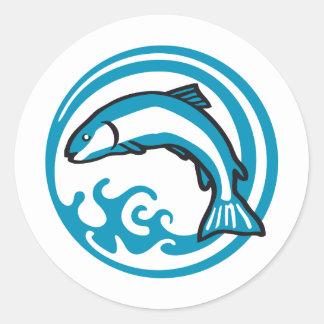 fishing C 2C Classic Round Sticker