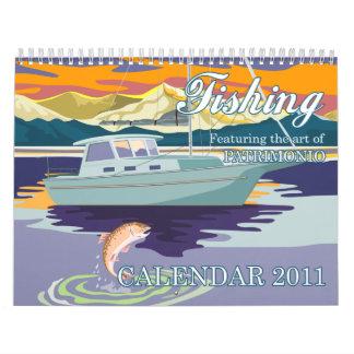 Fishing Calendar 2011 retro artwork patrimonio