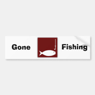 Fishing Car Bumper Sticker