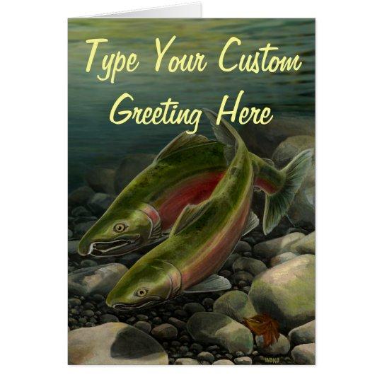 Fishing Card BC Wildlife Art Cards Custom