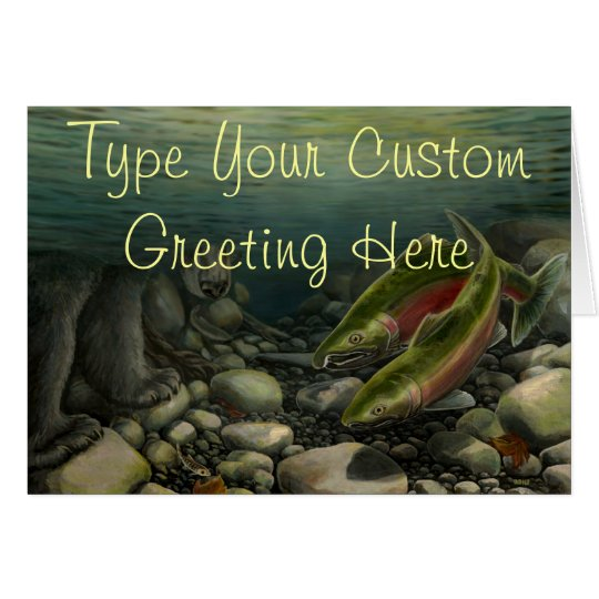 Fishing Card BC Wildlife Art Cards Custom