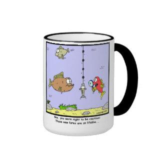 Fishing Cartoon: Lures Ringer Mug