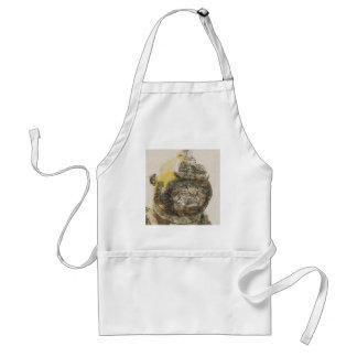 Fishing cat adult apron