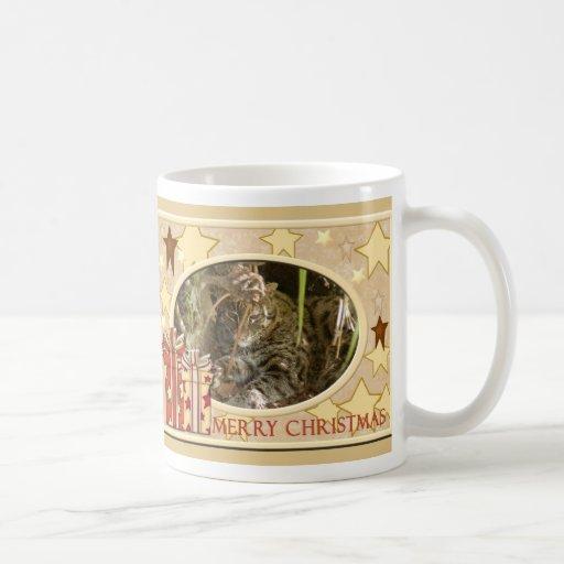Fishing Cat Christmas Mug
