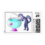 Fishing Cat Postage Stamps